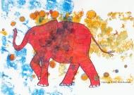 """""""Elephant"""" $120 Mixed Media"""