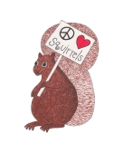 Peace Love and Squirrels - Copy