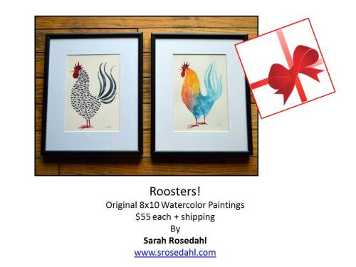 Rooster Art Framed