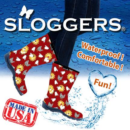 sloggers boots red