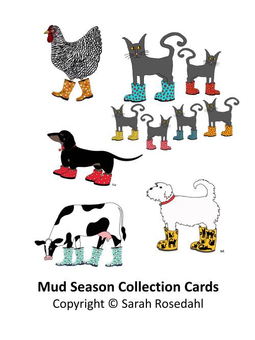 Mud Season Collection Cards